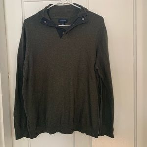 Handsome Military Green Sweater Pullover
